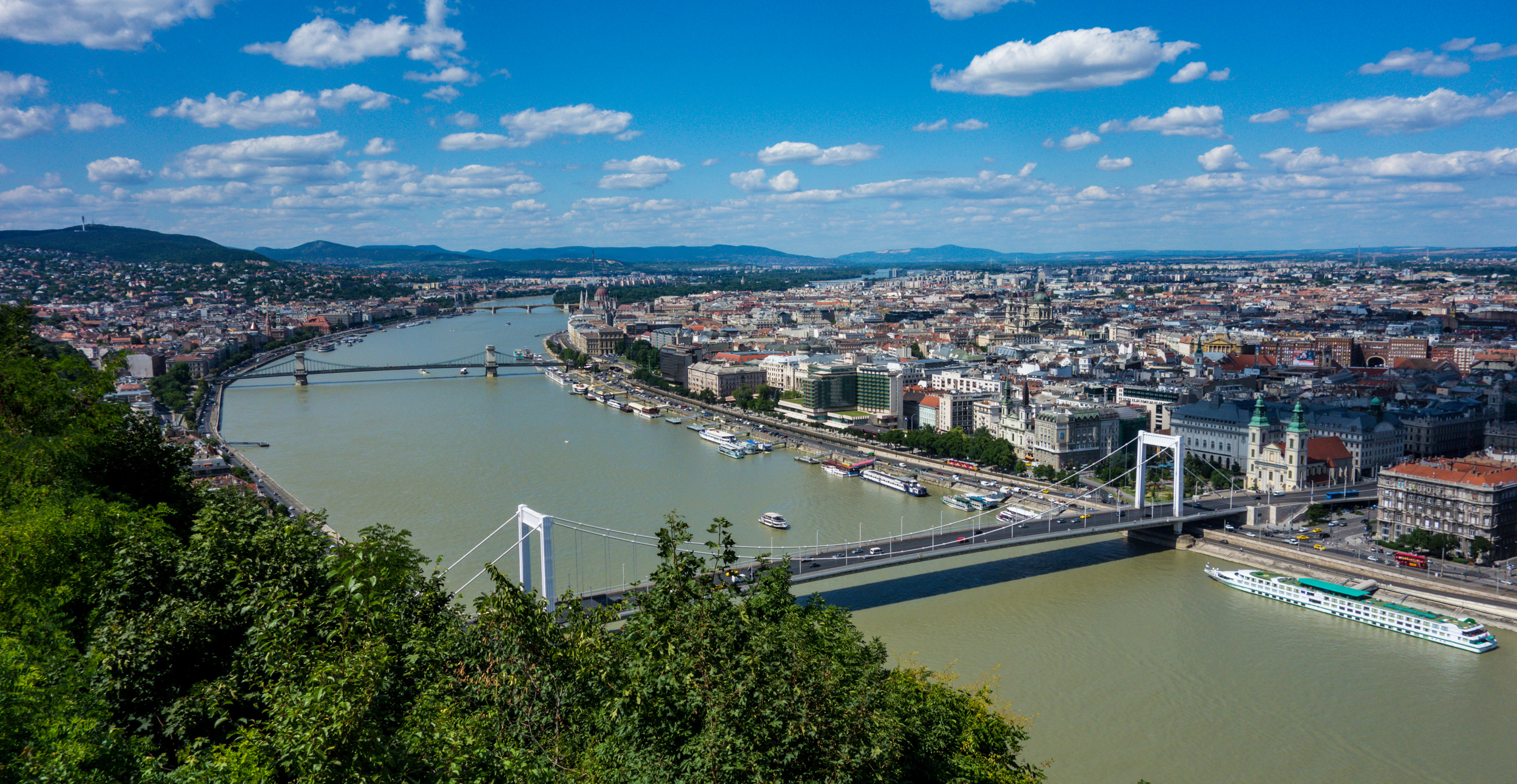 View_from_Gellért_Hill_to_the_Danube,_Hungary_-_Budapest_(28493220635)